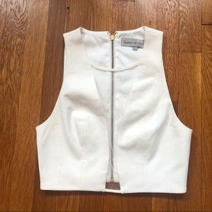blessed are the meek white crop top size small